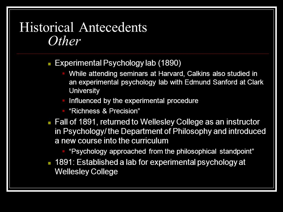 Historical Antecedents Other