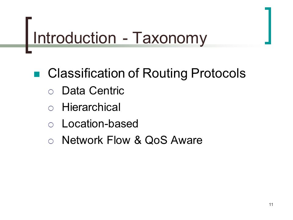 Introduction - Taxonomy