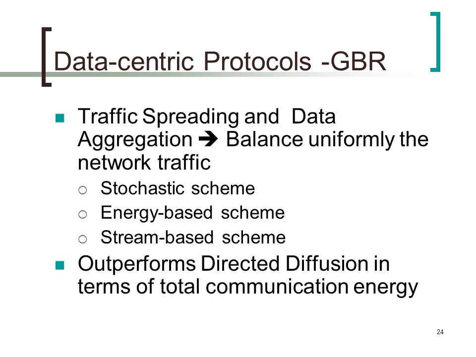 Data-centric Protocols -GBR