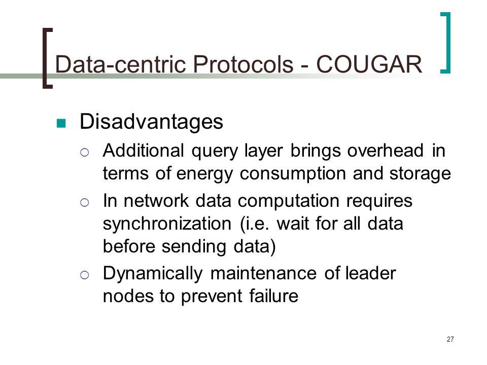 Data-centric Protocols - COUGAR