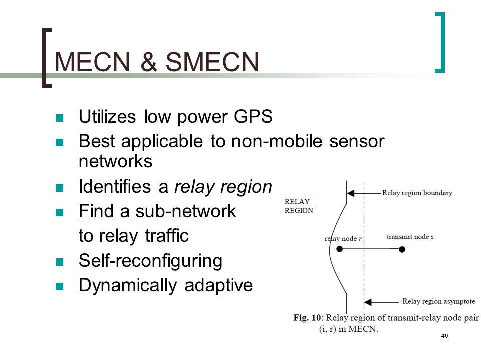 MECN & SMECN Utilizes low power GPS
