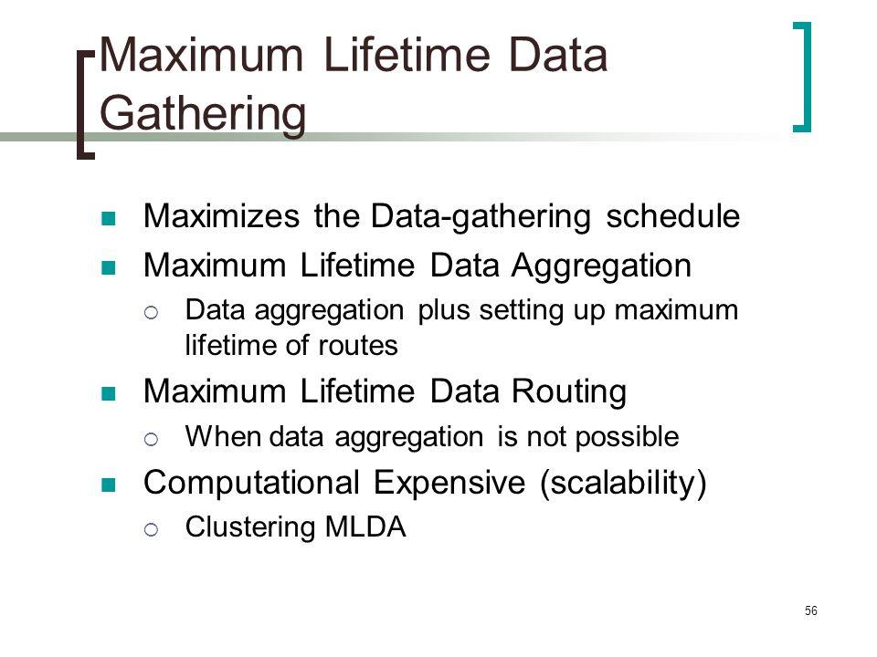 Maximum Lifetime Data Gathering