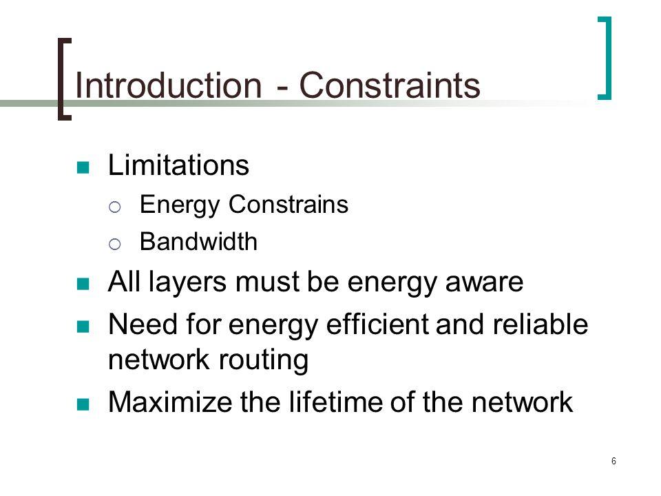 Introduction - Constraints