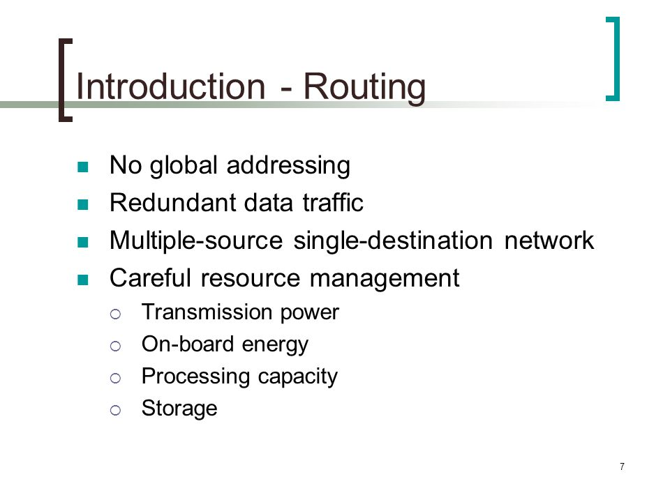 Introduction - Routing