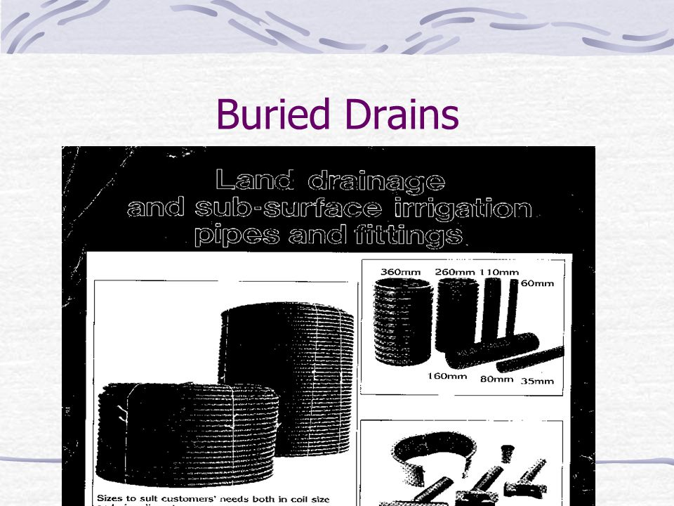Buried Drains