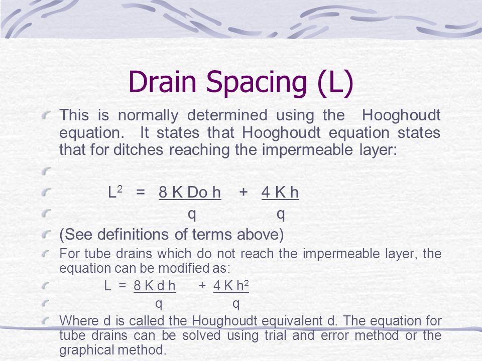 Drain Spacing (L)