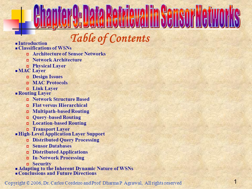 Chapter 9: Data Retrieval in Sensor Networks
