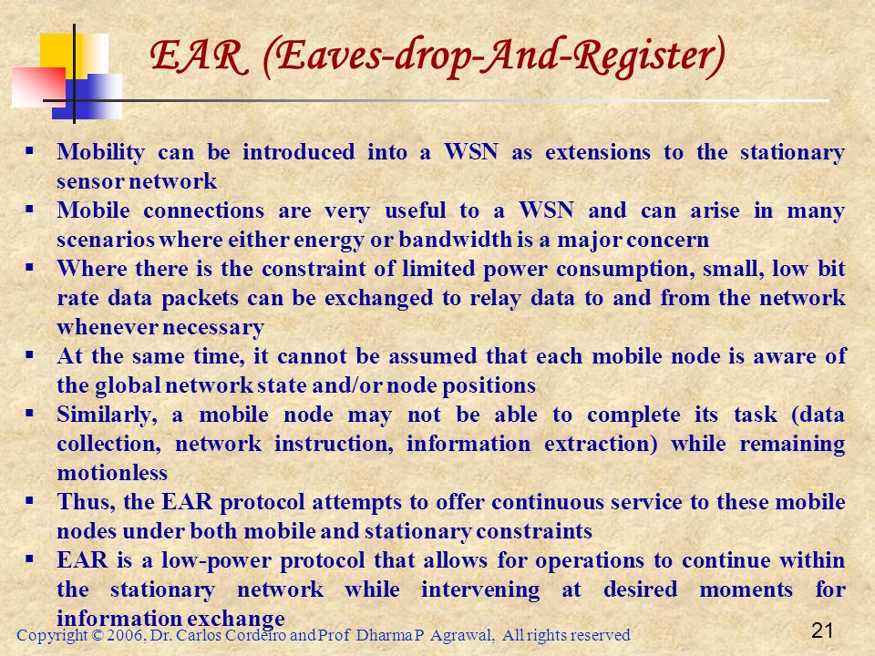 EAR (Eaves-drop-And-Register)