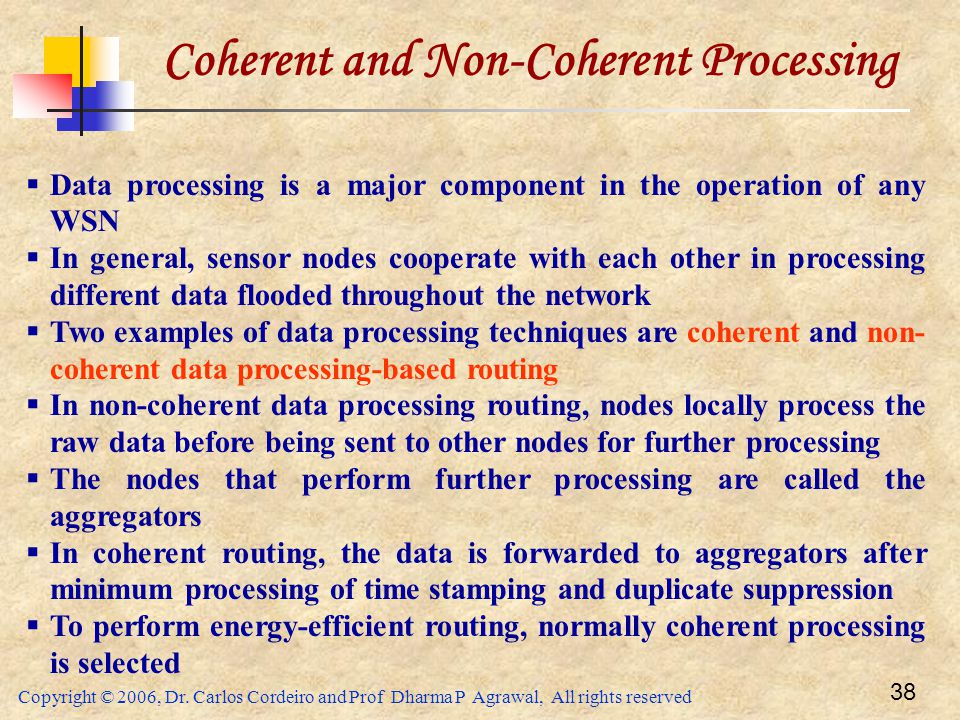 Coherent and Non-Coherent Processing