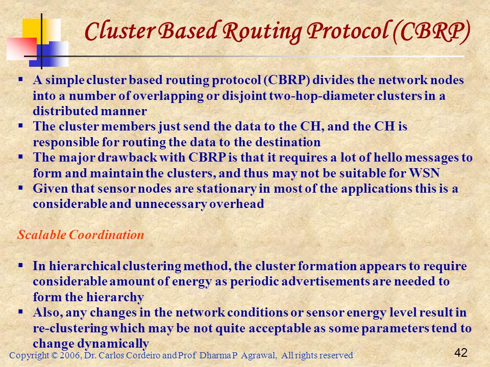 Cluster Based Routing Protocol (CBRP)