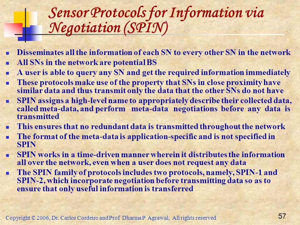 Sensor Protocols for Information via Negotiation (SPIN)