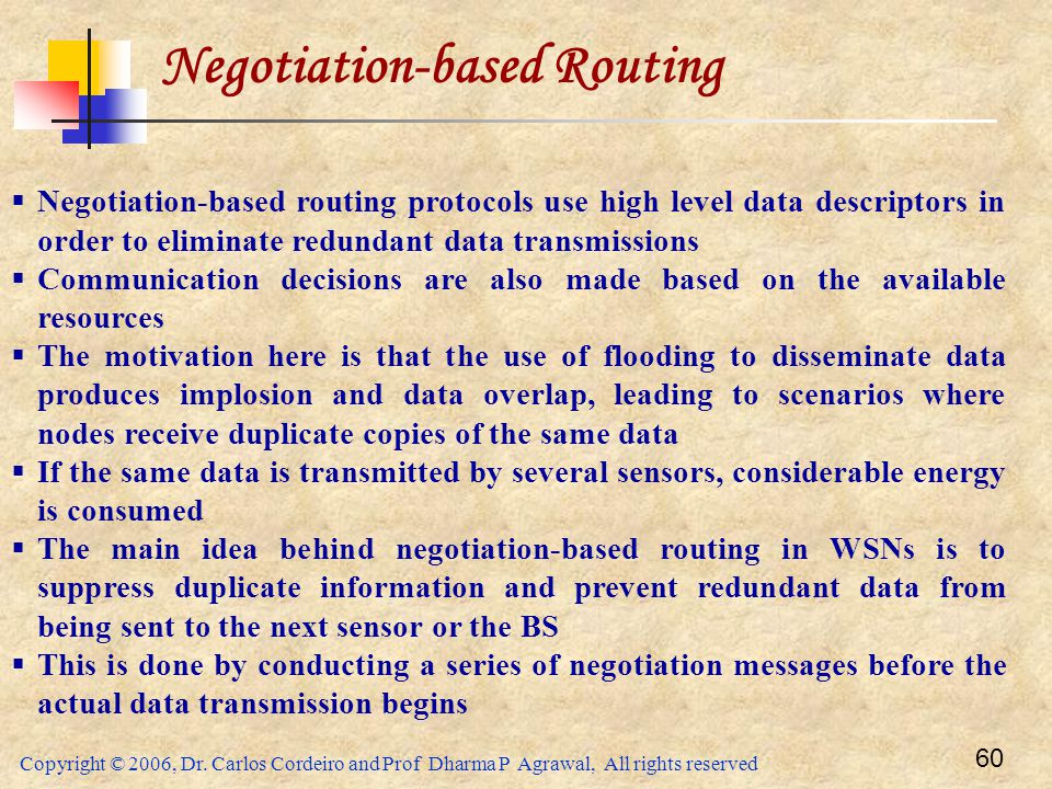 Negotiation-based Routing