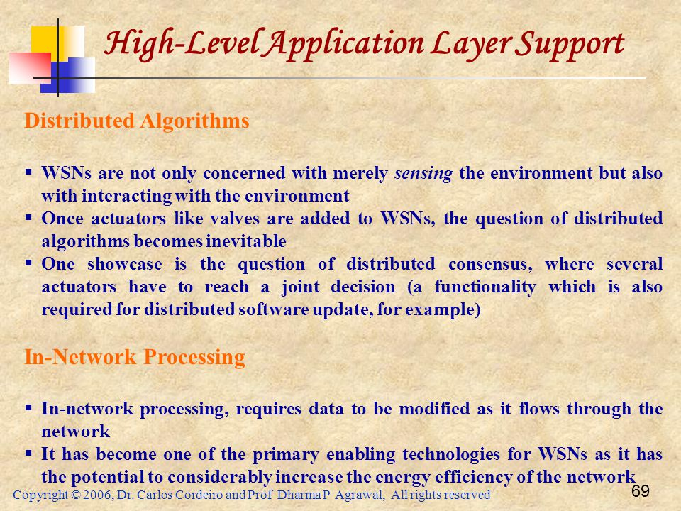 High-Level Application Layer Support