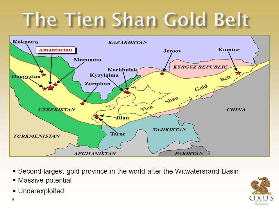 Oxus on the Tien Shan Gold Belt