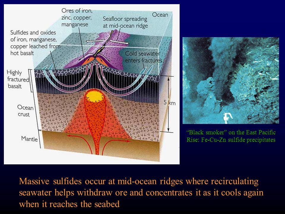 Black smoker on the East Pacific Rise: Fe-Cu-Zn sulfide precipitates
