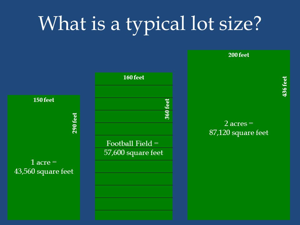 What is a typical lot size