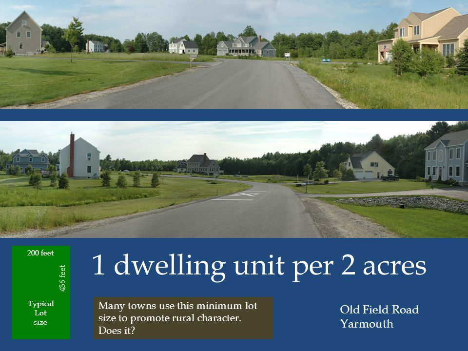 1 dwelling unit per 2 acres