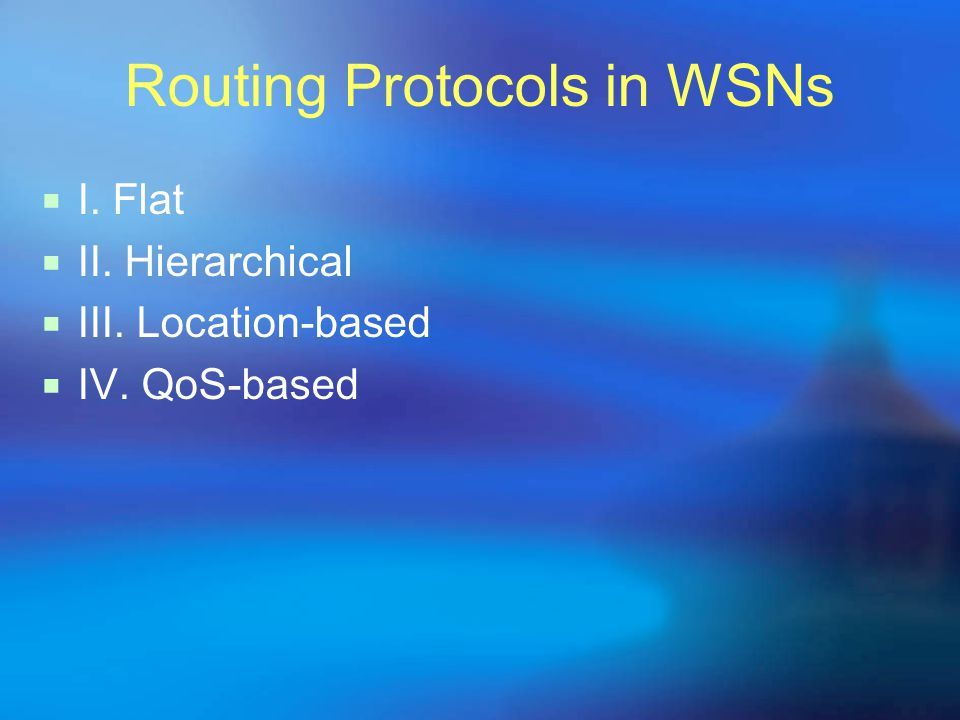 Routing Protocols in WSNs