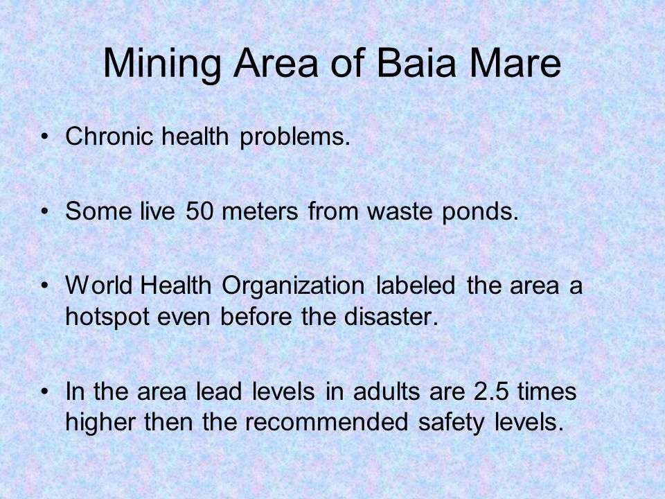 Mining Area of Baia Mare