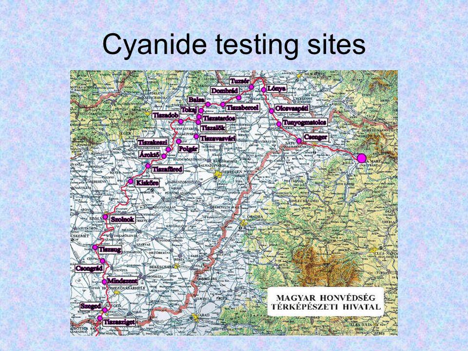 Cyanide testing sites http://www.tisaforum.org.yu/arhiva/HUMoE/prel-eval.htm