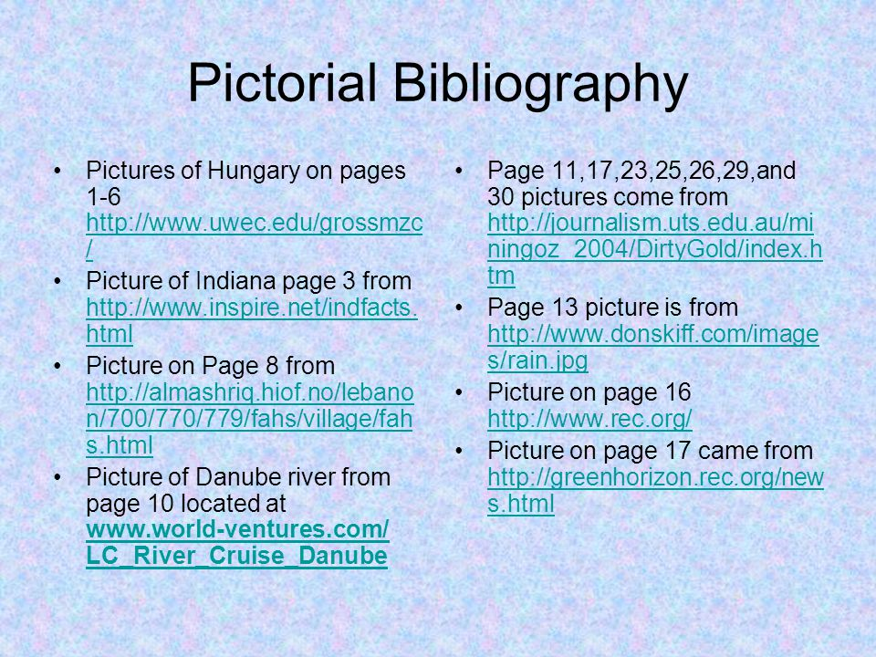 Pictorial Bibliography
