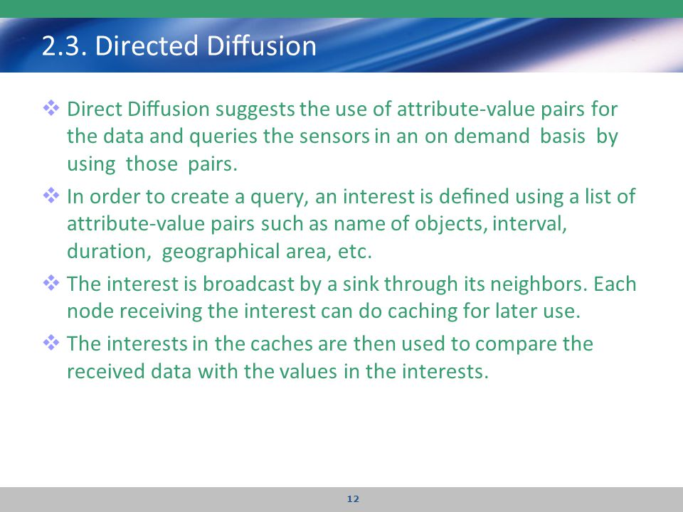 2.3. Directed Diffusion