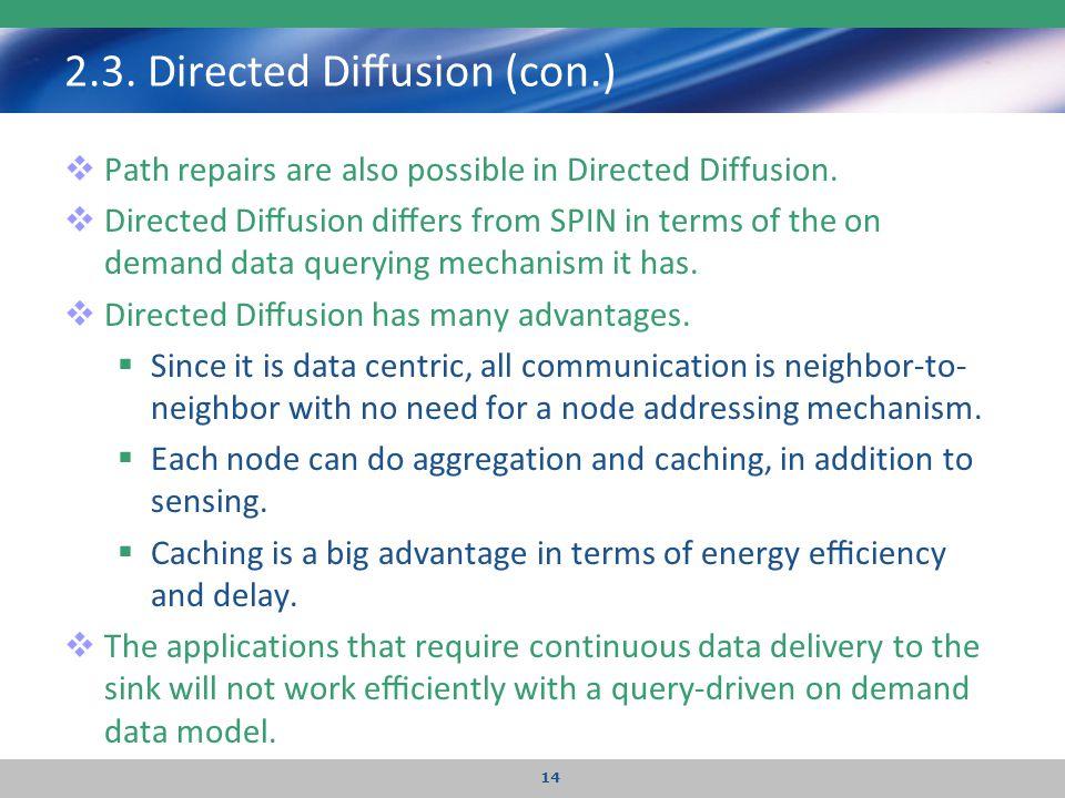 2.3. Directed Diffusion (con.)