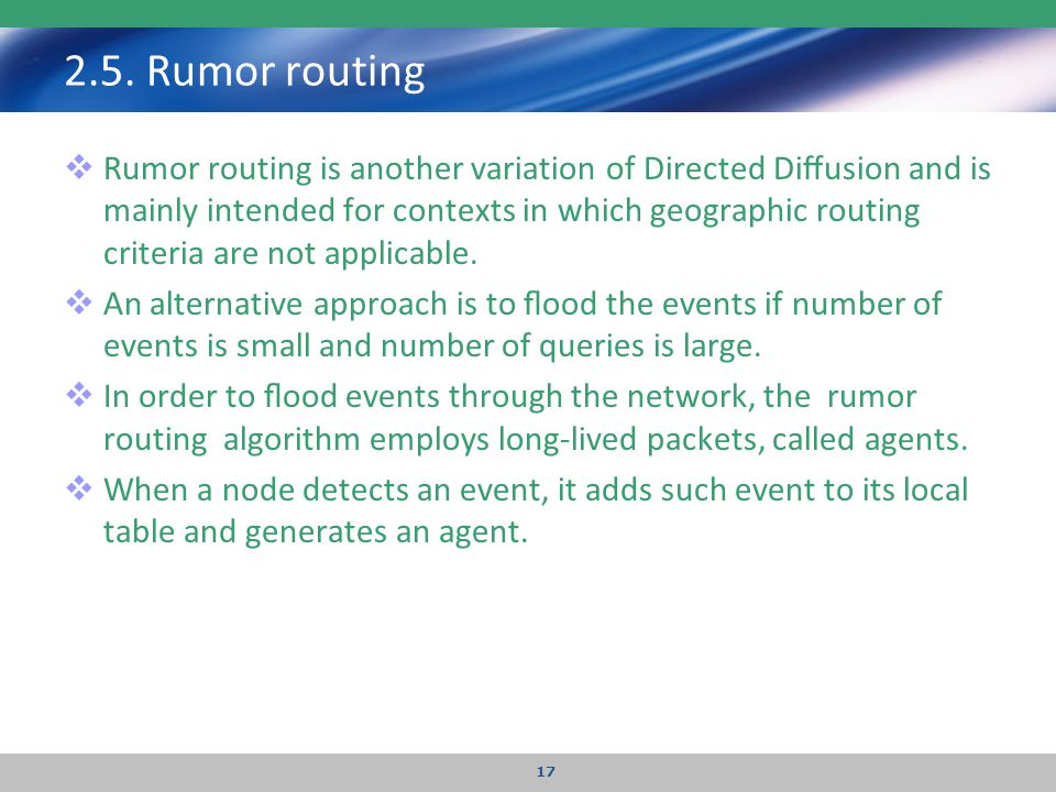2.5. Rumor routing