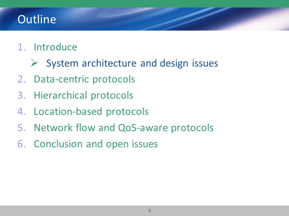 Outline Introduce System architecture and design issues
