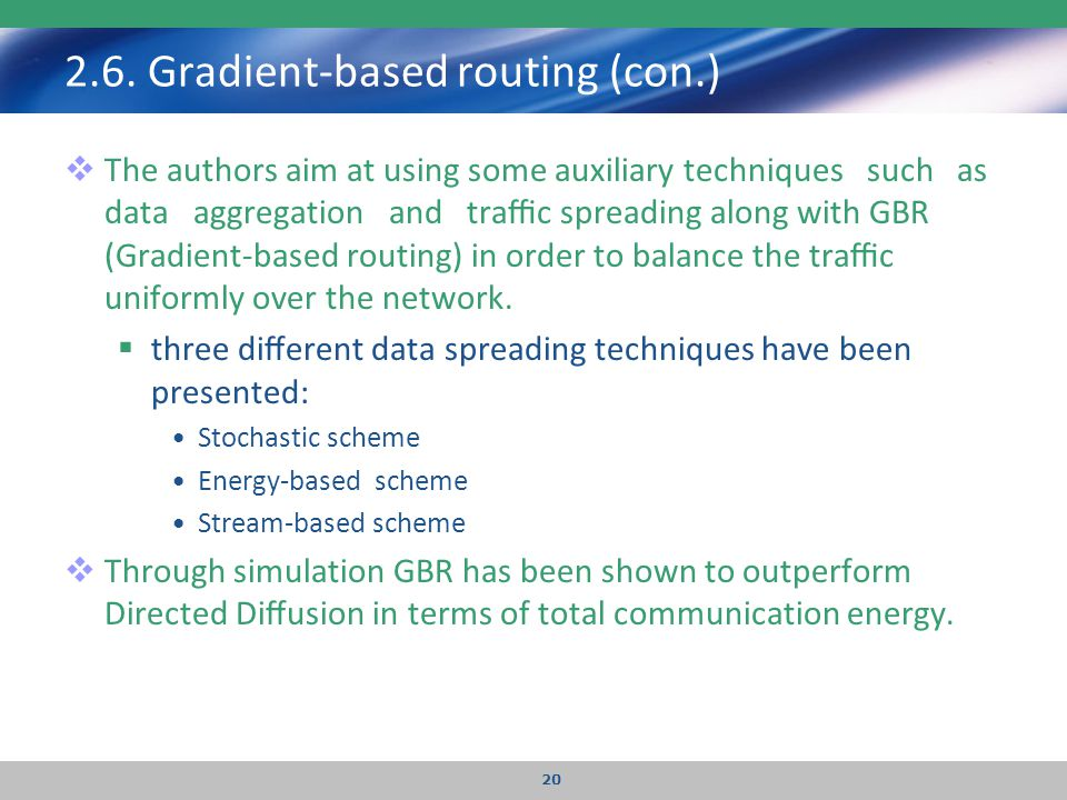 2.6. Gradient-based routing (con.)