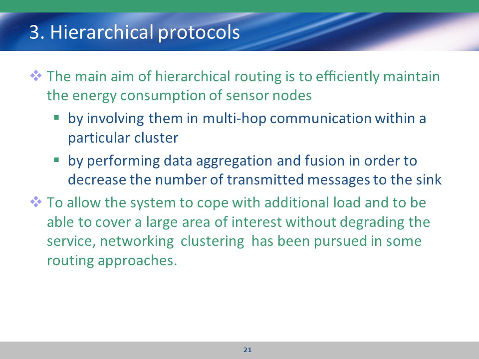 3. Hierarchical protocols