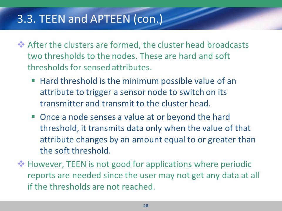 3.3. TEEN and APTEEN (con.)
