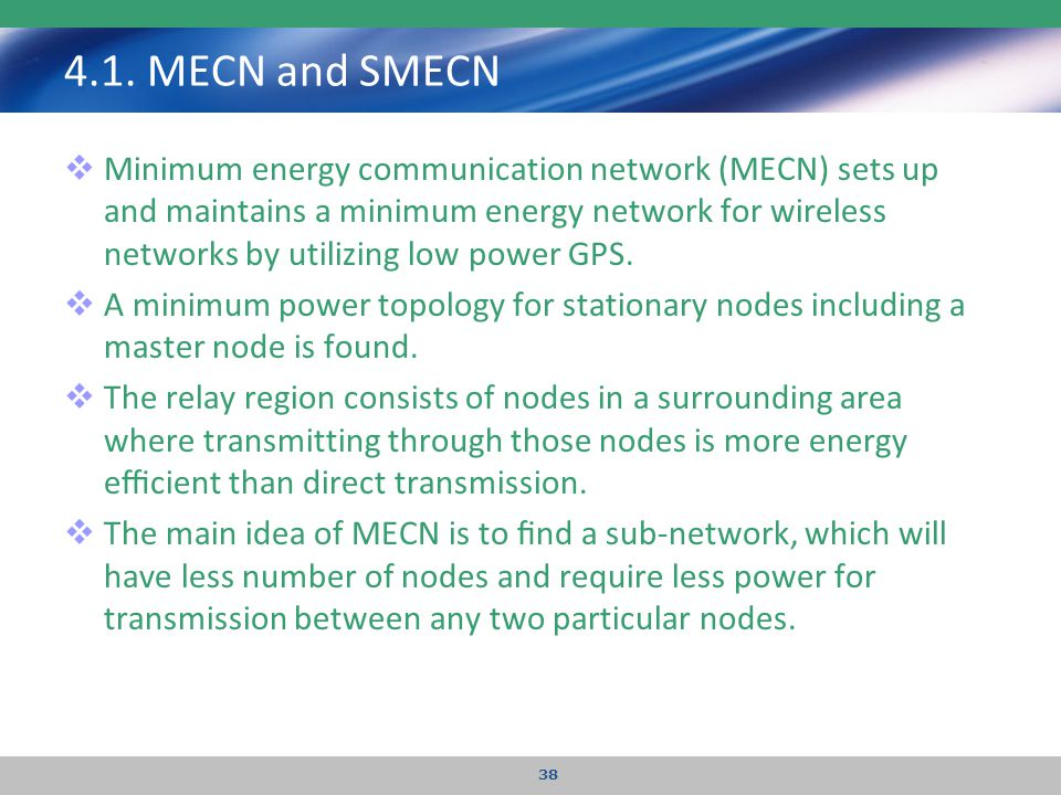 4.1. MECN and SMECN