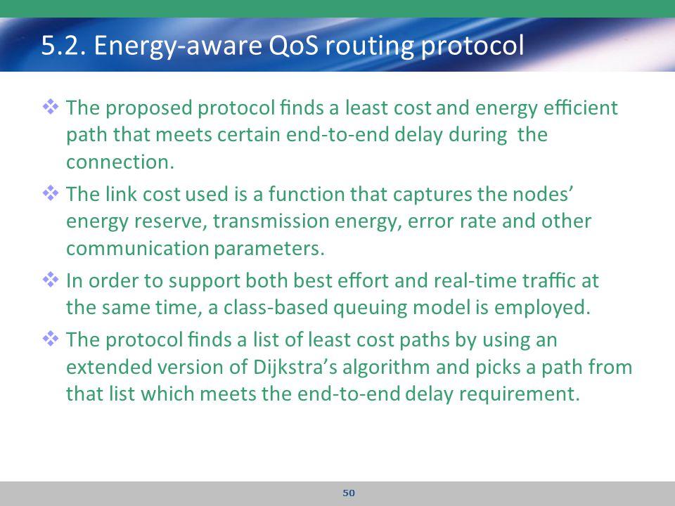5.2. Energy-aware QoS routing protocol