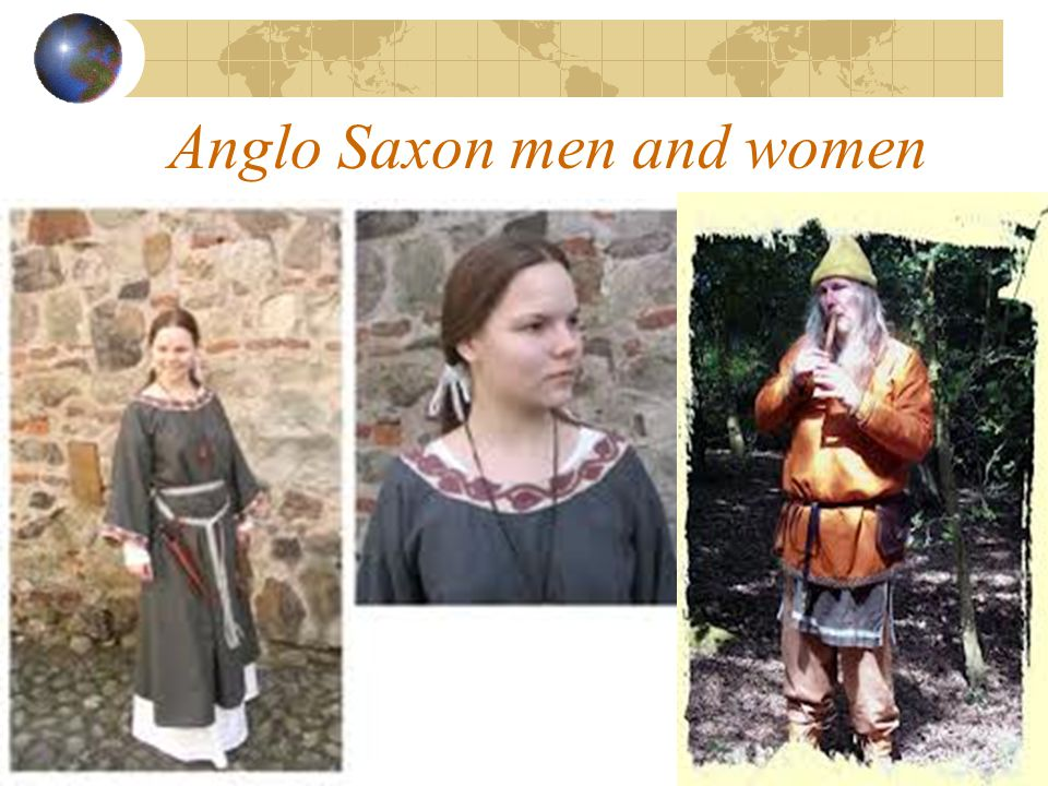 Anglo Saxon men and women