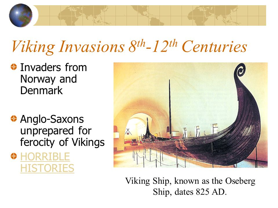 Viking Invasions 8th-12th Centuries