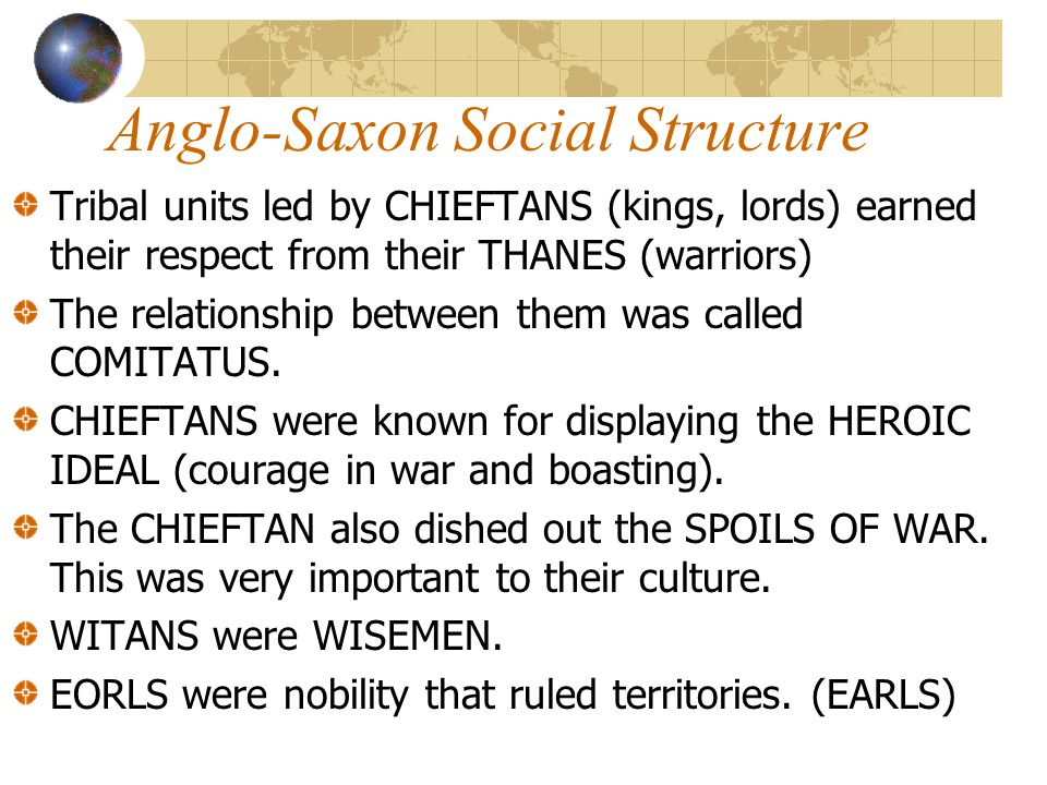 Anglo-Saxon Social Structure