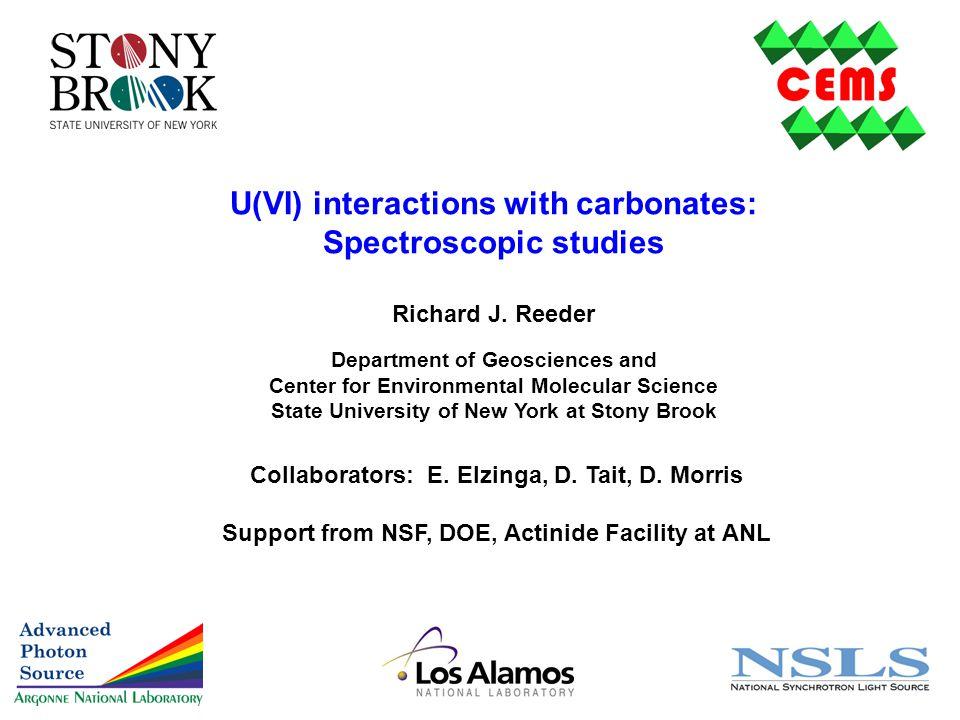 U(VI) interactions with carbonates: Spectroscopic studies