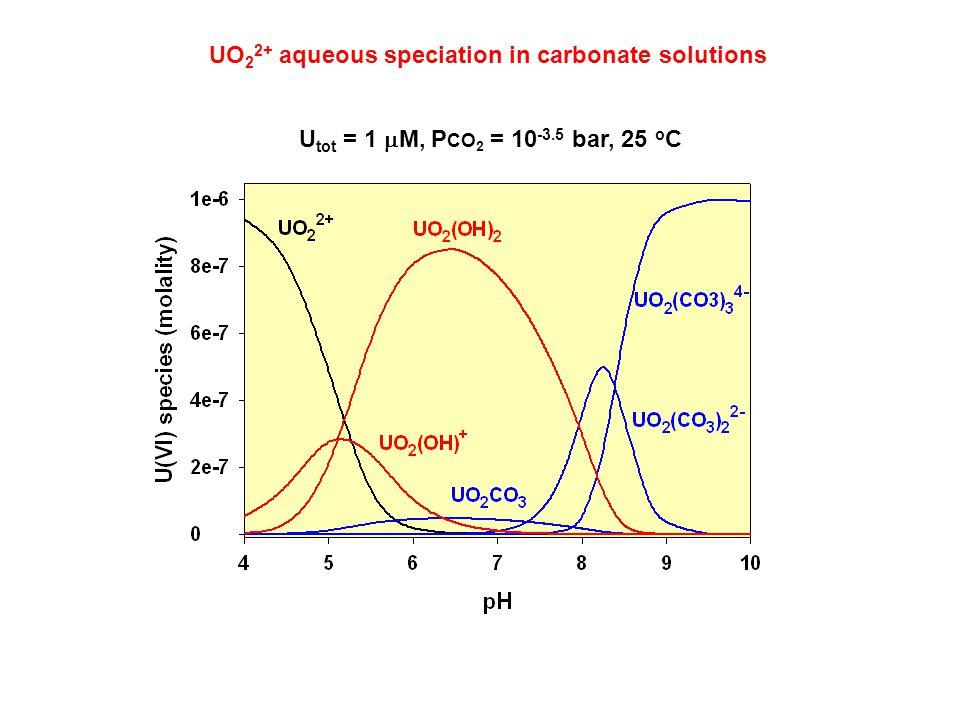 UO22+ aqueous speciation in carbonate solutions