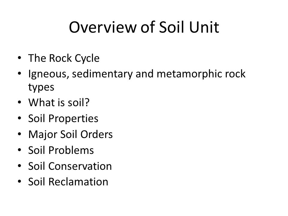 an overview of soils