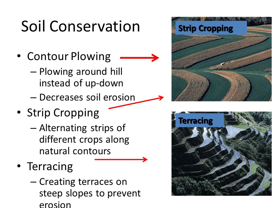 Soil Conservation Contour Plowing Strip Cropping Terracing