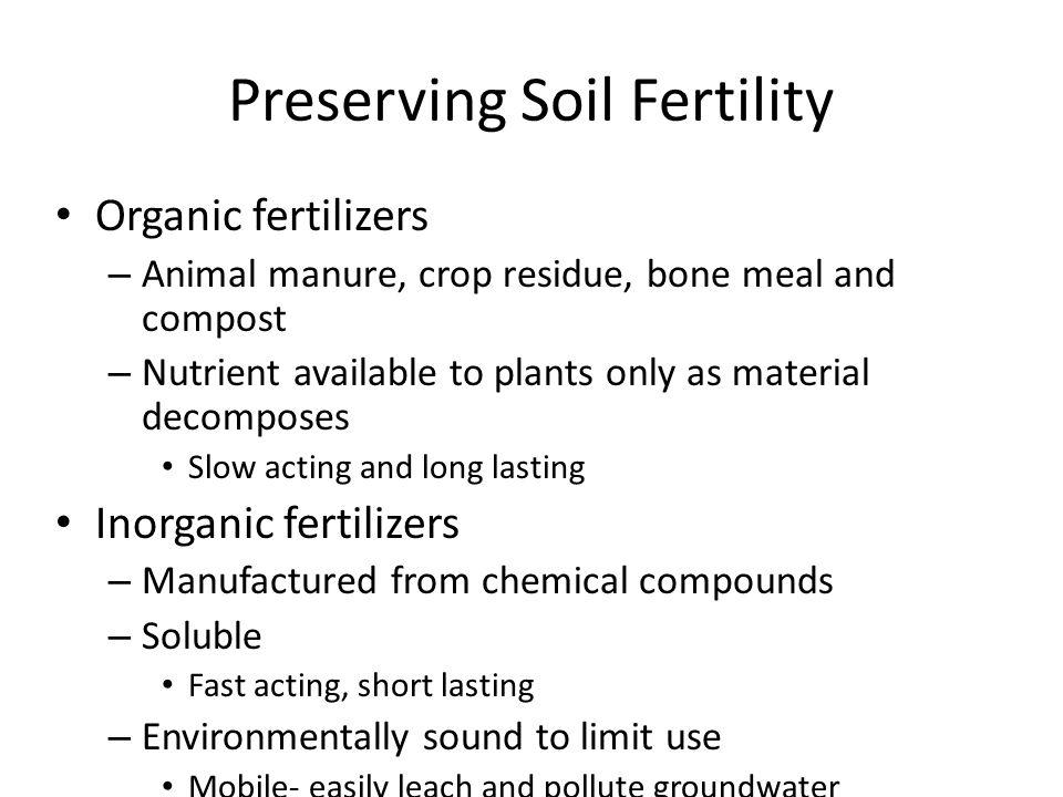 Preserving Soil Fertility