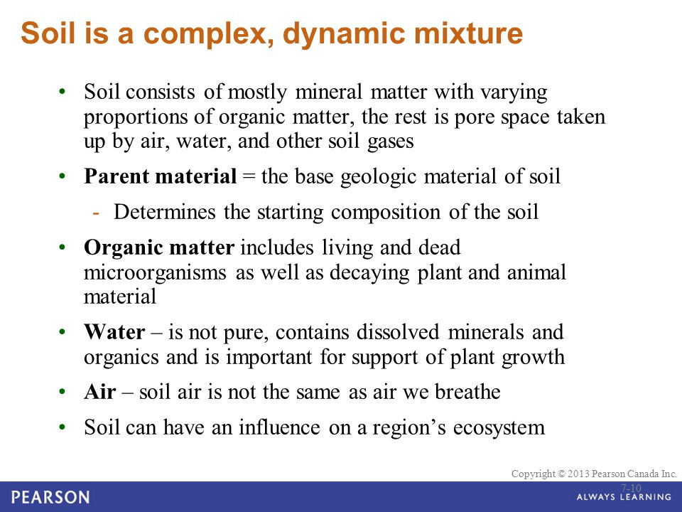 Soil is a complex, dynamic mixture