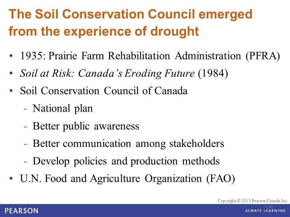 The Soil Conservation Council emerged from the experience of drought