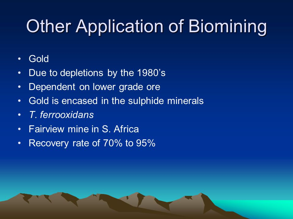 Other Application of Biomining