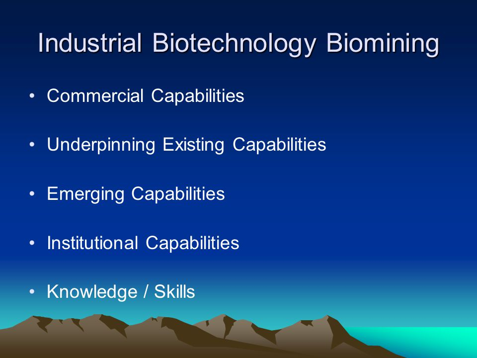 Industrial Biotechnology Biomining