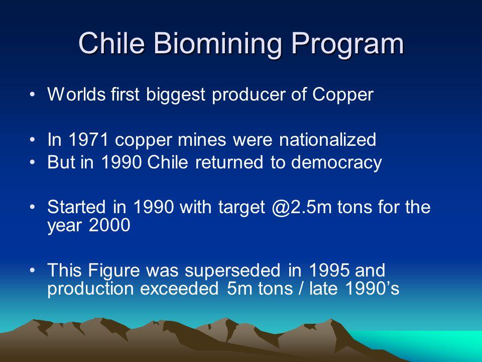 Chile Biomining Program