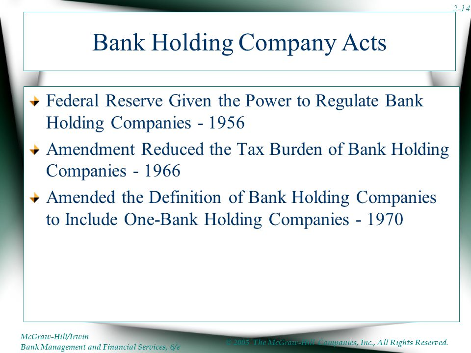 Bank Holding Company Acts