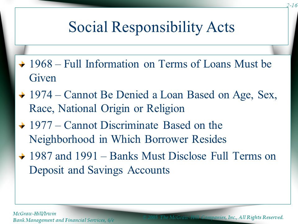 Social Responsibility Acts
