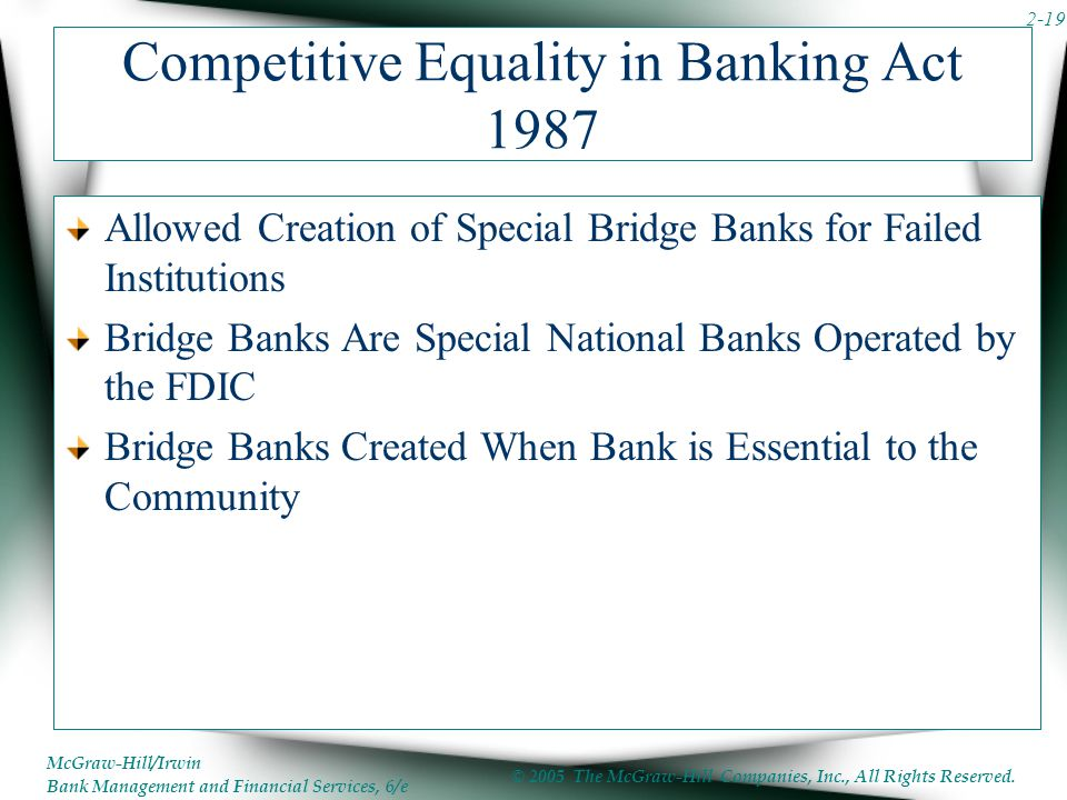 Competitive Equality in Banking Act 1987